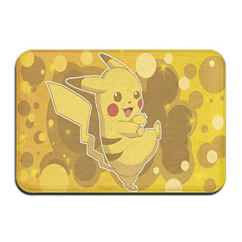 Custom made Tapis de salle de bain antidérapant Pokémon Pikachu en microfibre, ultra doux et absorbant l
