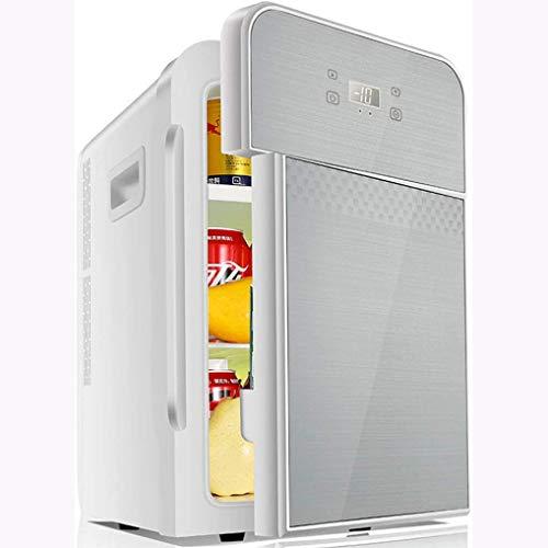 Rindasr Mini Nevera pequeña, 22L de Gran Capacidad de refrigeración y la preservación del Calor de Doble propósito refrigerador Electricidad, hogar al Aire Libre de Bebidas Congelador