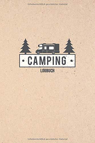 Camping Logbuch: Tagebuch für die Reise mit dem Wohnwagen, Wohnmobil oder Zelt - Retro Wohnwagen Logo