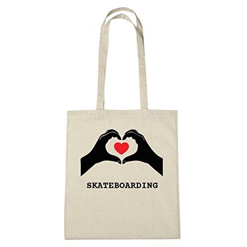JOllify SKATEBOARDING katoenen tas B6165 Natuur: handen hart