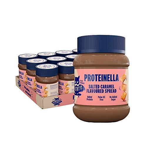 HealthyCo – Proteinella Aufstrich mit Salzkaramell-Geschmack 400g Ohne Zuckerzusatz, Ohne Palmöl und Mit Bestem Protein