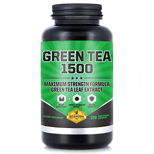 Green Tea 1500 - Egcg Green Tea Extract Supplement, Maximum Strength Egcg Green Tea Extract Capsules for a Metabolism Boost and Daily Energy by Vitamorph Labs - 120 Vegetarian Capsules