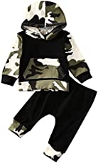Moore Infant Baby Boys Camouflage Hoodie Tops +Long Pants Outfits Set Clothes 0-3Y (12-18 Months, Camouflage)