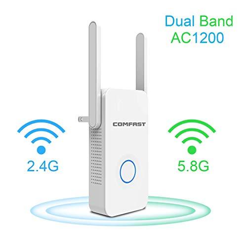 COMFAST WiFi Range Extender, 1200Mbps WiFi Extender/Repetidor/WiFi Signal Booster/Punto De Acceso/Antenas Externas Internet Booster