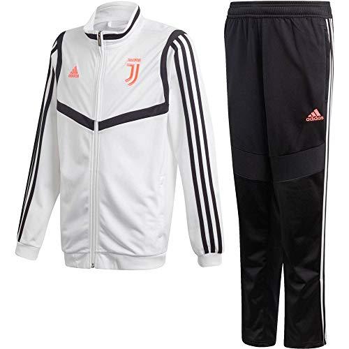 adidas Juve PES Suit Y Tuta Unisex Bambini, Bianco/Nero, 164