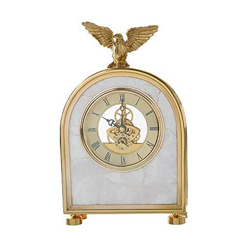 Orologio del mantello nordico di fascia alta, mensola del menomel dell'orologio della scrivania dell'orologio del metallo degli orologi del mantello della calma antica della batteria della batteria de