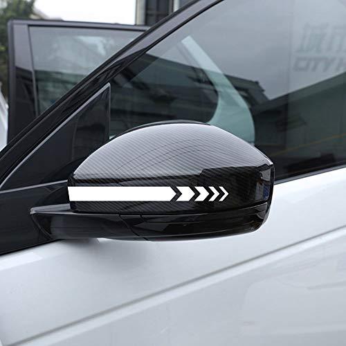 Autodomy Pegatinas Espejo Retrovisor Coche con Diseño de Franjas Rayas Flechas Pack de 6 Unidades con Diferentes anchuras para Coche (Blanco)