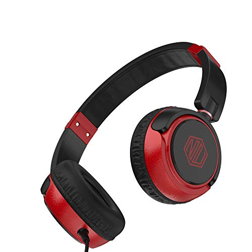 Nu Republic Funx W Wired Headphones with Mic (Red/Black)