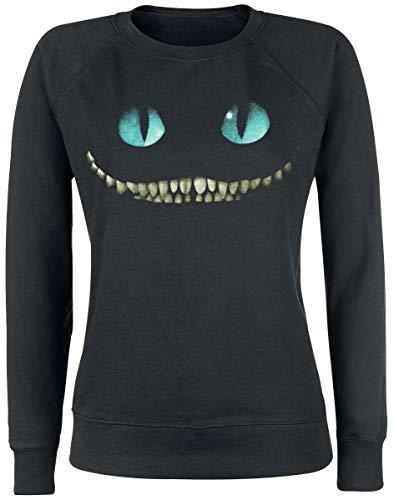 Alice im Wunderland Grinsekatze - Lächeln Sweatshirt schwarz M