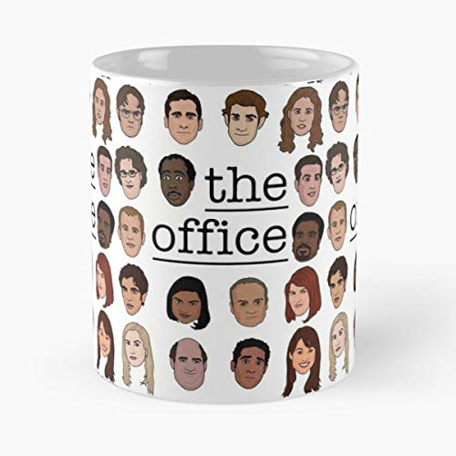 5TheWay Michael Cast TV Television The Scott NBC Office Taza de café con Leche 11 oz