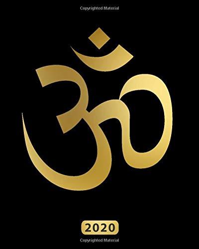 Simbolo OM Yoga: Pianificatore Settimanale con calendari mensili, festività, liste di cose da fare e pagine di note