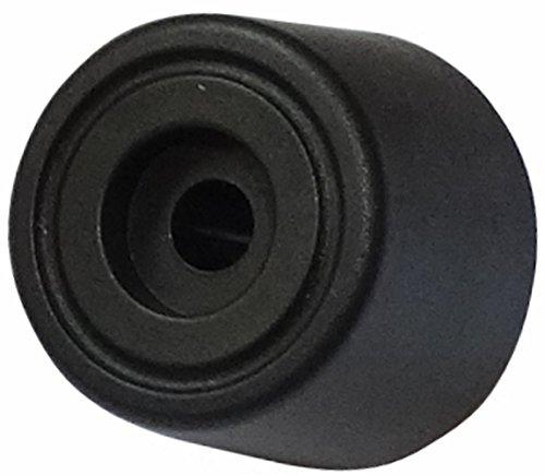 AERZETIX: 4 x Patas pies para montaje rápido de polietileno A: 15mm Ø20mm para muebles, negro