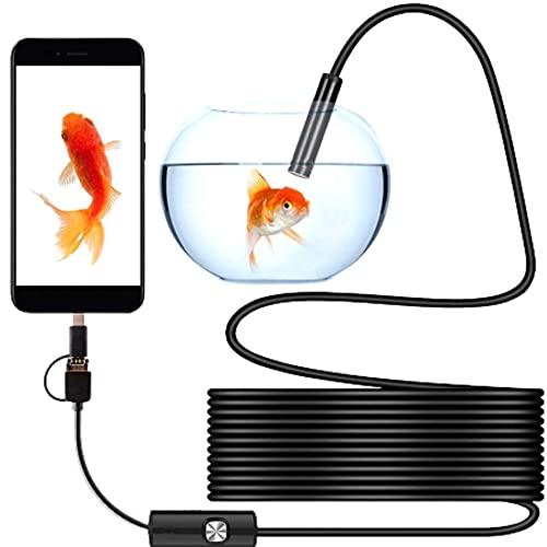 Okao - Cámara endoscópica (10 m, cable semirrígido impermeable 3 en 1, USB/Micro USB/Type-C compatible con Android/PC/Mac/Tablet, no compatible con Iphone/Ipad