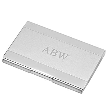 Custom Engraved Business Card Holder for Men and Women   Two Tone Pocket Business Card CaseWith Free Personalization