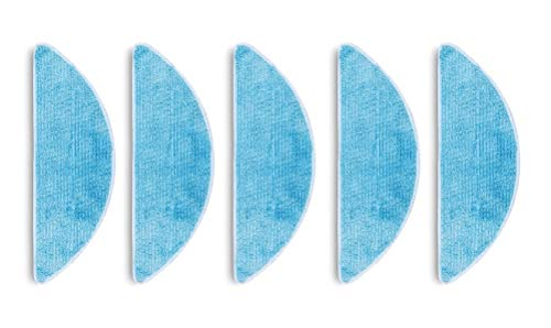 e-Bulk Éponge Serpillière Microfibre De Nettoyage Humide De Remplacement Compatible avec Les Robots Aspirateur Ecovacs Deebot 605/715 / 601/600 Pack De 5 Unité