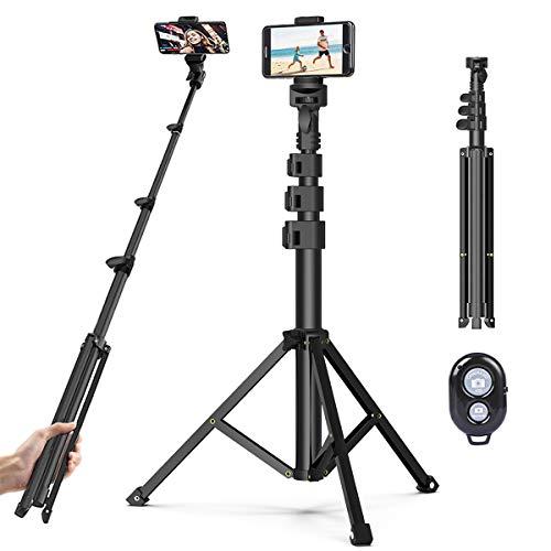Handy Stativ Phone Selfie Stick,131cm Leichtgewicht Wireless Selfie-Stange mit 3 in 1 Halterung und Bluetooth-Fernbedienung,Kamera Stativ für iPhone,Android,Samsung,Huawei,Smartphones.