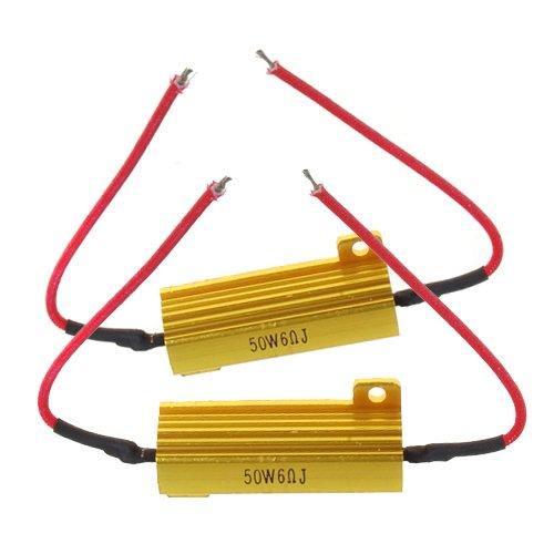 2pcs 50W 6ohm Résistor Résistance de Charge pour Ampoule LED Clignotant de Voiture