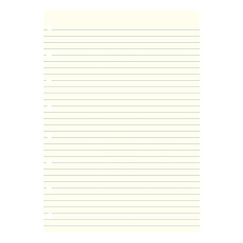 Filofax Notebooks A5 Ruled Journal Refill, Movable, 8 1/4 x 5 13/16 inches, 32 Cream Sheets Fits Filofax Refillable A5   (B152008U)