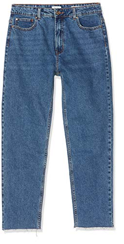 ONLY Damen 15171549 Straight Jeans, Dark Blue Denim, 36/L34 (Herstellergröße: 28)