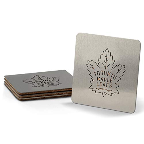 YouTheFan NHL Toronto Maple Leafs Boaster Stainless Steel Coaster Set of 4 , 4