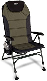 Earth Ultimate 4-Position Outdoor Chair w. New Adjustable Front Legs and Comfortable Built-in Pillow for Head Support