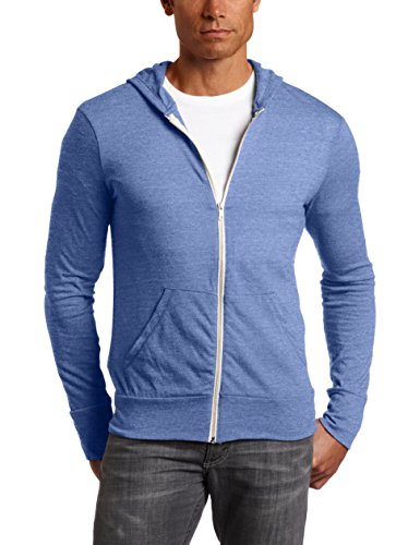 Alternative AA1970 Men's Eco Long-Sleeve Zip Hoodie - Ec Tr Pacif Blue - Large