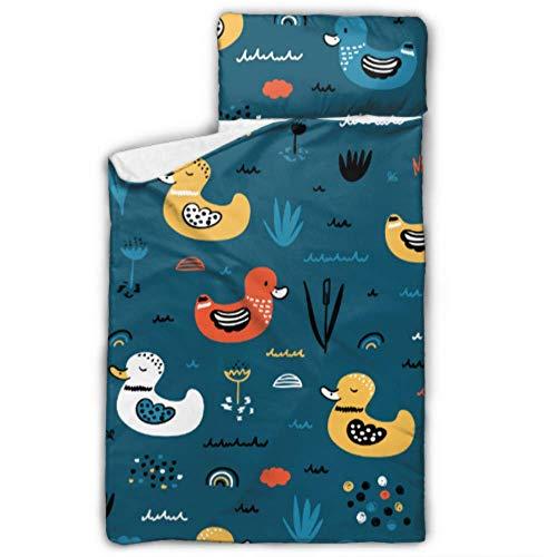 Pato Bailando Elegante música Rolling Nap Mat Sacos de Dormir para niños con Manta y Almohada Diseño Enrollable Ideal para preescolares Guarderías para Pijamas 50