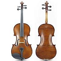 初心者のためのバイオリン ソリッドウッドバイオリンセットのフルサイズは、滑らかな表面で硬いケースを持つ大人の子供や大人に適したフルサイズ 優れた質感 (色 : 褐色, Size : 4/4)