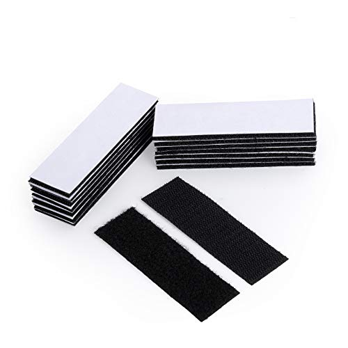 Heavy Duty Mounting Tape Double-Side Reclosable Hook Loop Strips Tape Sticky Fastener Waterproof Indoor Outdoor Use for Holds Picture Frame and Tools (15Pack- 3x10cm)