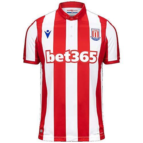 Stoke City FC Men's Authentic Matchday Home Soccer Jersey 2019-2020 (Medium)