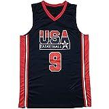 YCQQ Jordania USA Dream Team - Camiseta de Baloncesto para Hombre, de Secado rápido, Transpirable, cómoda, para Entrenamiento, Chaleco De Gimnasia, Camiseta Deportiva(Size:L177-182,Color:G1)