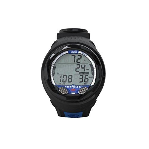 Ordinateur de plongée aqualung i300dans le bracelet–pour air et Nitrox Bleu