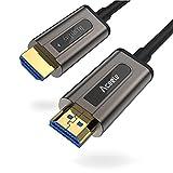 Aceele - Cable HDMI de Fibra óptica (HDMI, 4 K a 60 Hz, Cable HDMI 4: 4, Conector HDMI V2.0 de Alta Velocidad, 18 Gbps, para Roku, Xbox One X, PS4, Nintendo Switch, 15 m, 50 m)