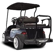 Madjax Club Car Precedent 2004-up Rear Flip Seat Genesis 300 Aluminum with Standard Black CushionsTHE Golf CART is NOT Included