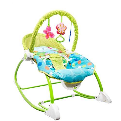 QULONG Alfombra de Juego para bebés, Mecedora/Asiento eléctrico 2 en 1 para bebés con Vibraciones calmantes