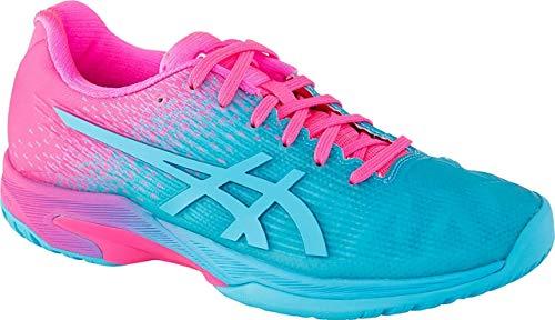ASICS Solution Speed FF L.E Women's Tennis Shoe, Aquarium/Hot Pink, 12 M US