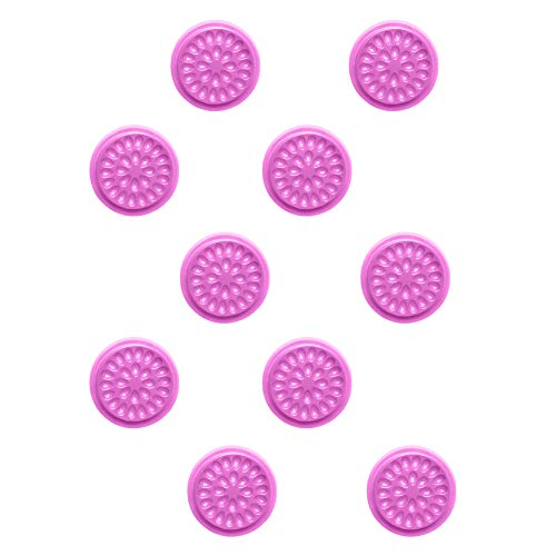 BESUFY 10Pcs Resin Molds,Silicone Epoxy Molds for Resin Casting Release Stress Halloween Christmas Home Decoration Flower Shape Fake Eye Lashes Tray Extension Glue Pallet Pads PVC Gasket Purple