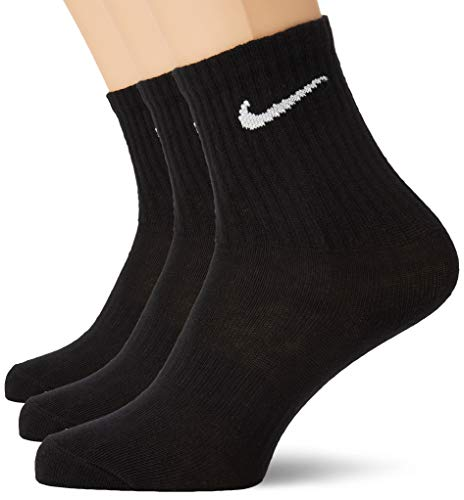 Nike Everyday Lightweight Crew Trainings Socks (3 Pairs), Calcetines Hombre, Negro (black/White), 38–42 (Talla del fabricante: M)