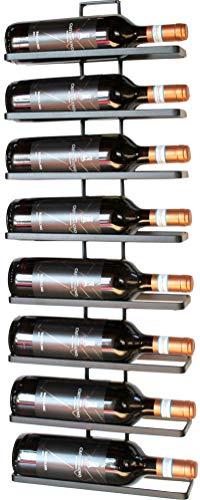 DanDiBo Vino Estante de Metal en Negro para la Pared Montaje de 8 Wine Ampliable 8 Botella Soporte Estante Soporte para Botellas, Metal, Negro