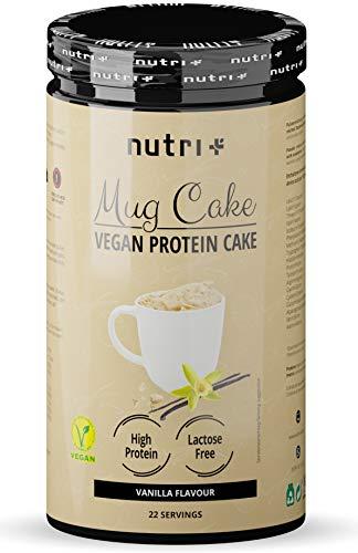 PROTEIN MUG CAKE Tassenkuchen Vegan Vanille - 6x mehr Eiweiß als normale Tassenküchlein - MugCake Vanilla Cup - Backmischung für die Mikrowelle