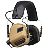OPSMEN Electronic Shooting Noise Safety Earmuff Sound Amplification Protection Brown