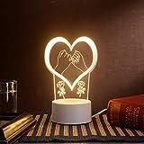 Luz De Noche Pequeña Estéreo, Plug-in Creativo Dibujos Animados Mini Lámpara De Mesa 3d, Lámpara De Noche Dormitorio, Lámpara De Regalo De Acrílico Palma