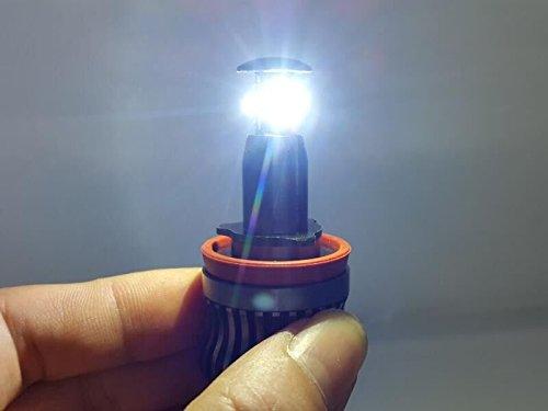 Segnalatore faretto a LED H8/80W CREE Semplice cambio automatico da color giallo a occhi di angelo color bianco moderno luminosi MCK E82/E92/E60/E61/E63/E89/X6/BC2R