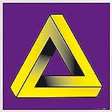 1art1 Ilusiones Ópticas Póster Impresión Artística con Marco (Plástico) - El Triángulo Imposible De Penrose En Colores Complementares (40 x 40cm)