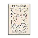 Picasso Matisse abstract posters and prints, girl body face Nordic wall art pictures, frameless canvas painting A7 30x40cm