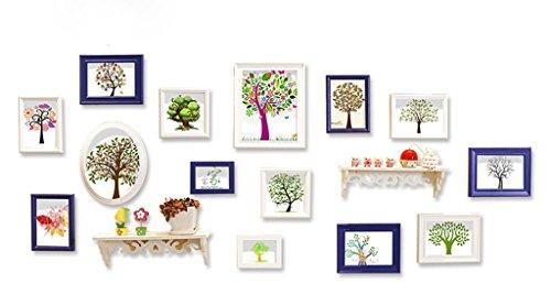 Partition d'étagère Simplicité moderne Idées de mode Photo Combinaison murale Bois massif Photo Mur Salon Ensemble mural Combinaison (Couleur : C)