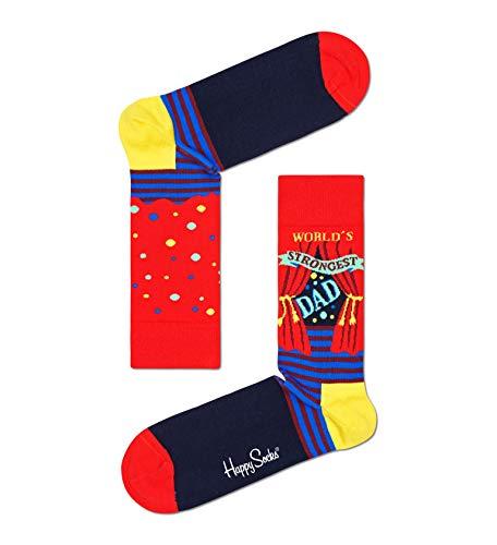 Happy Socks Herren Socken World's Strongest Dad,Mehrfarbig, 37-46 (Größe: 41-46)