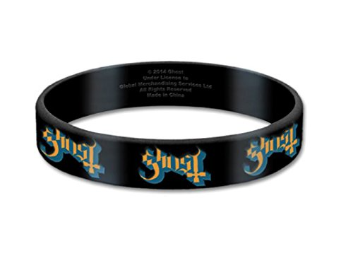 Ghost Wristband Classic Band Logo Official Black 17 Mm Rubber Size One Size