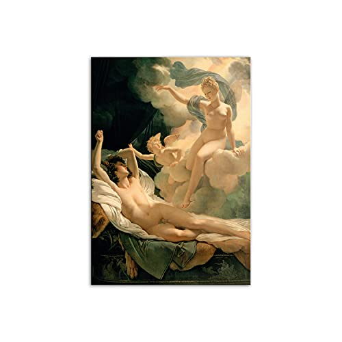 PENGDA Canvas Wall Art for Greek Mythology Poster Painting on Canvas for Living Room Bedroon Decor Unframed 8.4x12in