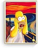 Kreischen Homer Simpson Schrei Leinwand Kunstdruck Malerei